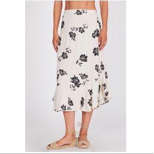 Amuse Society Floral Midi Skirt